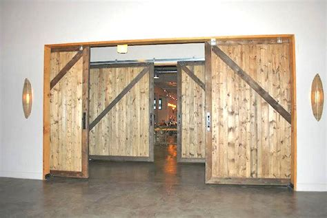 double sliding barn doors large sliding doors