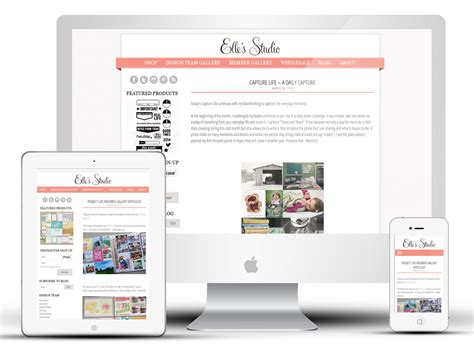 Handmade Website Design - pretty design s studio june