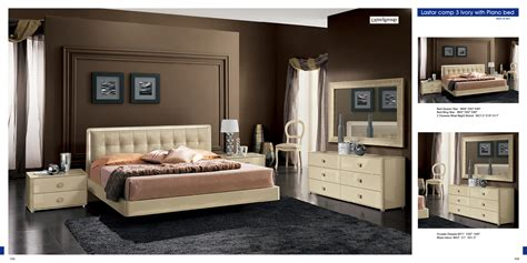 beige bedroom furniture modern bedroom set in beige finish made italy 33b101