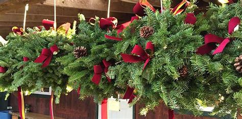 trees wreaths and maple syrup at balsam ridge christmas
