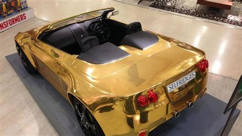 Gold Plated Cars For Sale by Gold Plated Electric Car For Costs 163 29 995