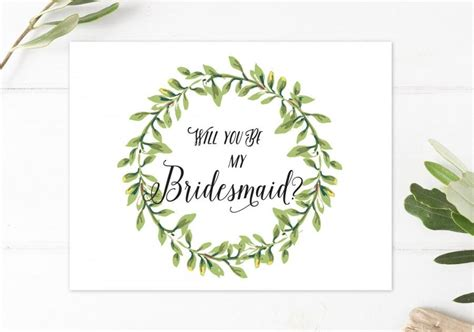 will you be my bridesmaid cards template will you be my bridesmaid rustic boho bridesmaid card