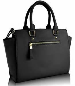 Home handbags ls00150 black grabtote handbag