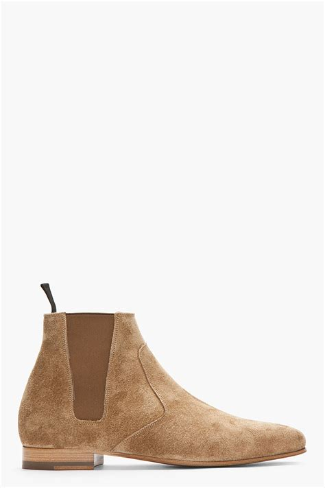 laurent distressed suede chelsea billy boots in