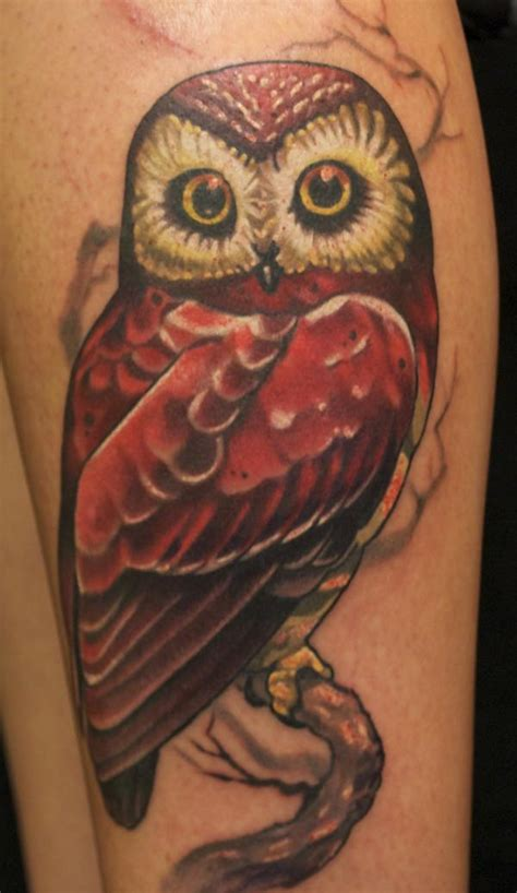 owl tattoo red 146 best animals owl images on pinterest
