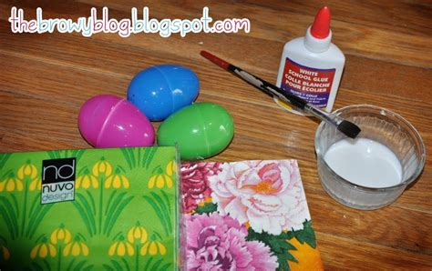 Decoupage Easter Eggs Tissue Paper - the browy decoupage easter eggs