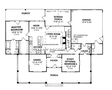floor plans under 2000 sq ft first floor plan of country house plan 68178 under 2000