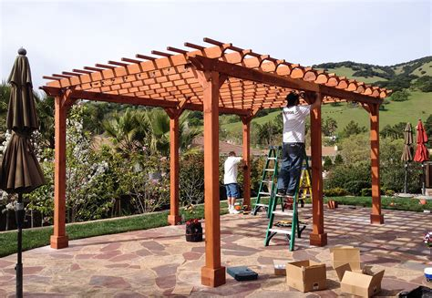 Wooden Garden Pergolas Custom Made From Redwood Custom Made Pergola