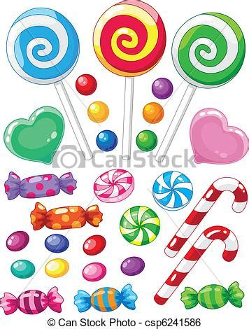 clipart dolci dolci set illustrazione