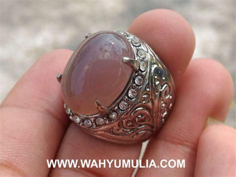 Batu Cincin Akik 2 batu cincin akik lavender ungu purple chalcedony kode