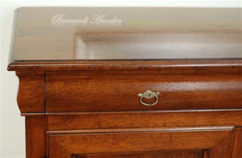 credenze in legno classiche credenza in legno massello 3 ante 3 cassetti sagomati ros 224