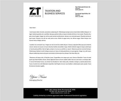 australian business letterhead template letterhead design for toni petrovski by gtools design