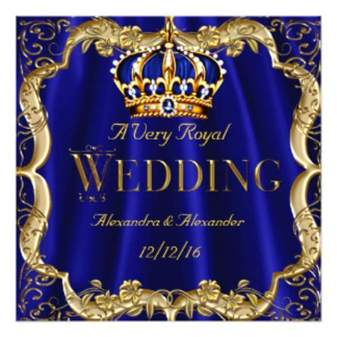 Royal Blue And Gold Wedding Invitations & Announcements   Zazzle