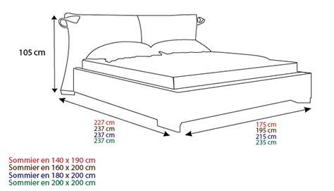 taille standard d un lit 2 personnes lit 2 personnes taille