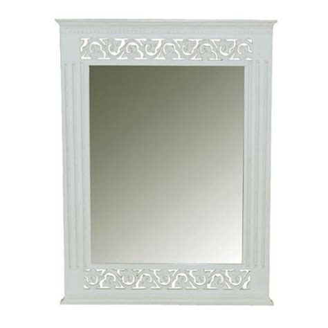 belgravia chic wall mirror white