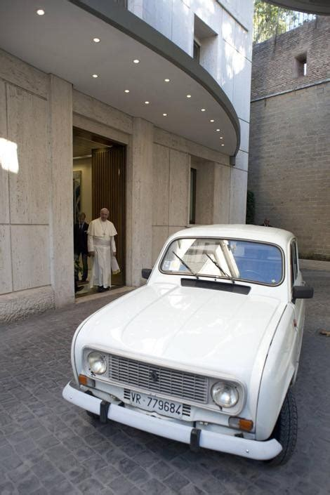 renault 4 pope francis in the vatican my other popemobile is a 30 year