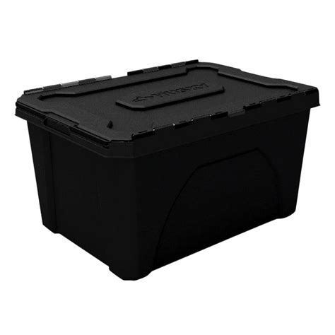 home design products 12 gallon flip top tote hdx 4 gal flip top storage tote in clear 17200552 the
