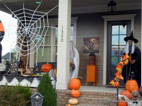 themes around halloween halloween porch decorating ideas both spooky and fun