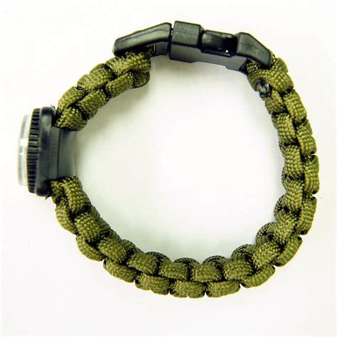 Olive Drab Green 550 Paracord Parachute Cord Survival Bracelet Military Compass   eBay