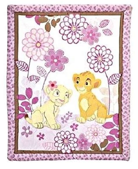 Lion King Simba Nala Baby Girl Purple Crib Nursery Set Simba Crib Bedding Set