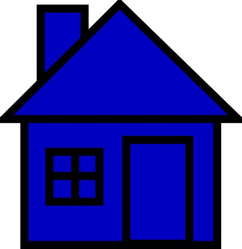 house clipart blue house clip at clker vector clip