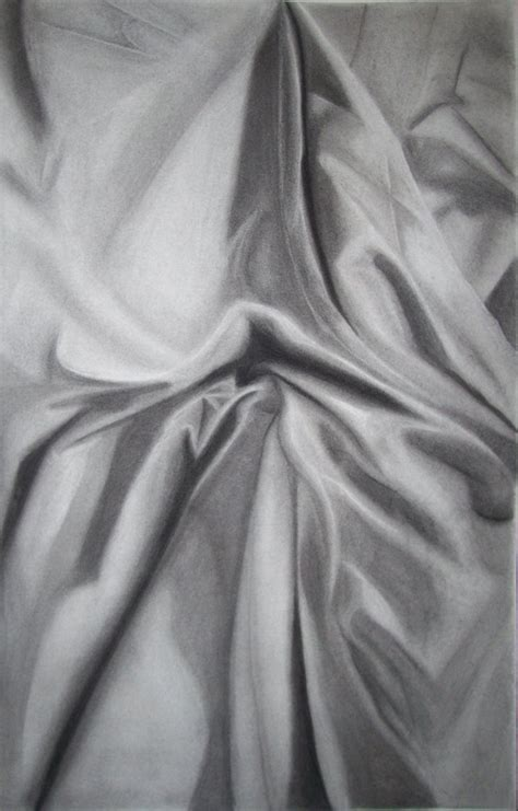 fabric drapes drapery study charcoal by ezabella on deviantart
