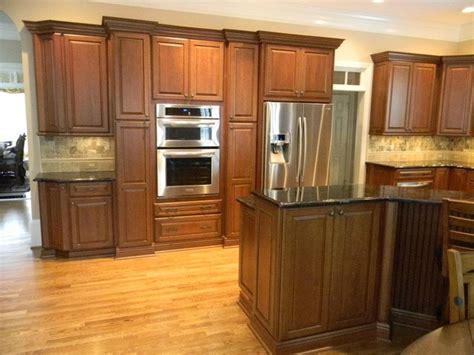 schuler kitchen cabinets princeton cherry square in harvest bronze with ebony glaze
