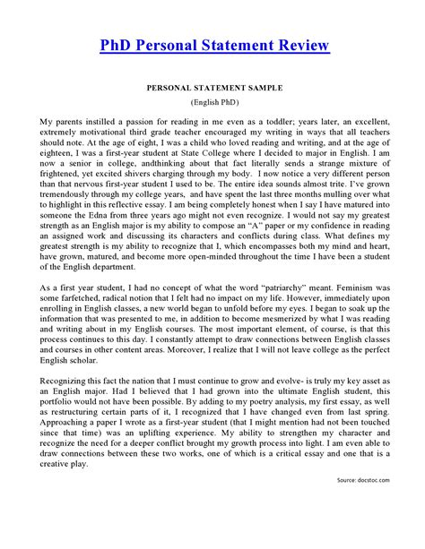 personal statement phd personal statement future social work and school