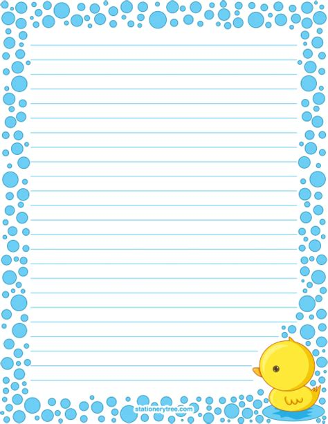 printable stationary download printable duck stationery and writing paper free pdf