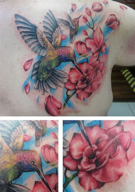 flower tattoo artist vancouver hummingbird tattoo and flower tattoo by alexis thomson