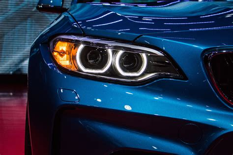 bmw car wallpaper car bmw m2 headlights blue lines kidney grille