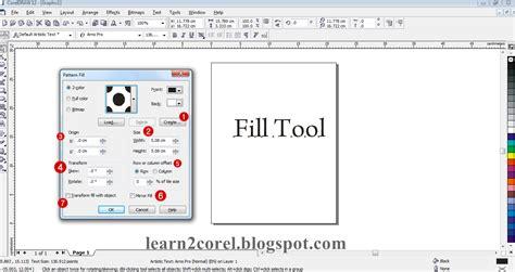 coreldraw bitmap pattern fill learn 14 อธ บายเคร องม อ pattern fill dialog ต อบทท 13
