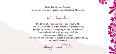 Hochzeitseinladung Text Kurz by Hochzeitseinladung Liebe Versetzt Berge