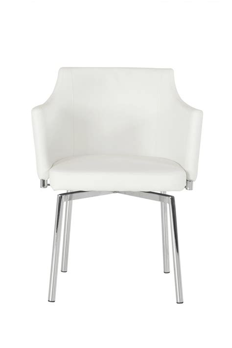 Modern Dining Chairs White Modrest Kaweah Modern White Dining Chair