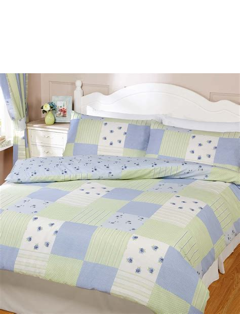 Patchwork Quilt Sets To Make - patchwork quilt cover pillowcase set chums