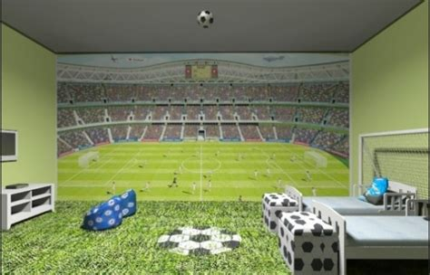 Themes Soccer Childrens Bedroom Ideas Kreative Kid Football Bedroom Decor