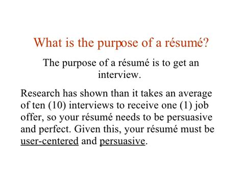 What Is The Purpose Of A Resume by What Is The Purpose Of A Resume Resume Ideas