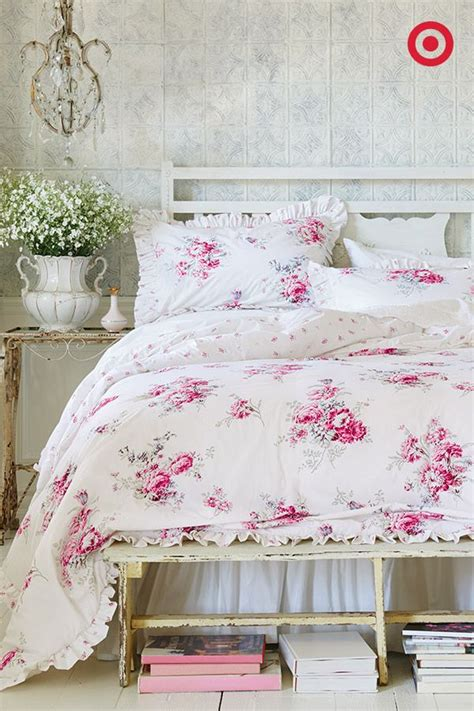 this rose bedding set from simply shabby chic will have