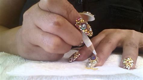 imagenes de uñas acrilicas picudas como hacer u 241 as picudas paso a paso parte 4 youtube