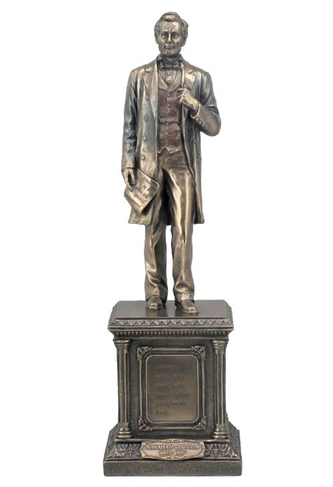 Standing On A Pedestal bronze abraham lincoln standing on a pedestal sculpture veronese collection