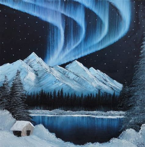 bob ross painting northern lights painting with bob ross bob ross paintings acrylic