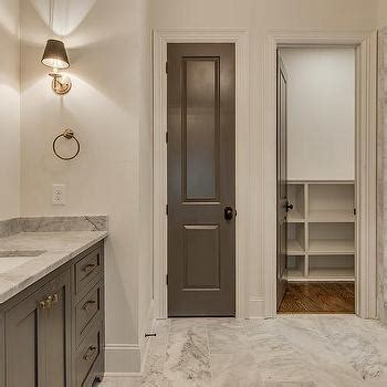dark grey bathroom cabinets linen doors hallway linen cupboard in a cullen bay