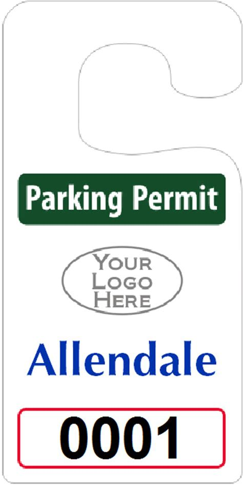 big foot parking permits jumbo size hang tags