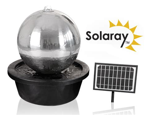 Solar Powered Water Features With Led Lights 50cm Stainless Steel Solar Powered Sphere Water Feature