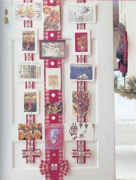 christmas card display ribbon christmas card holder