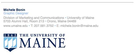 Email Signature Branding Toolbox University Of Maine Email Signature Template For College Student