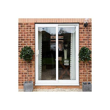 Bq Patio Doors White Pvcu Glazed Sliding Door Patio Door H 2090mm W 1790mm Departments Diy At B Q