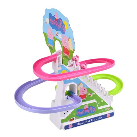 Set Staris Kid peppa pig amusement electric climb stair track set playset gifts ebay