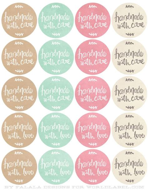 Handmade By Me Labels - 25 best ideas about free printable labels on