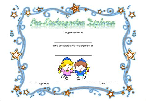 Pre Kindergarten Diploma Certificate 3 Professional And High Quality Templates Pre K Graduation Diploma Template